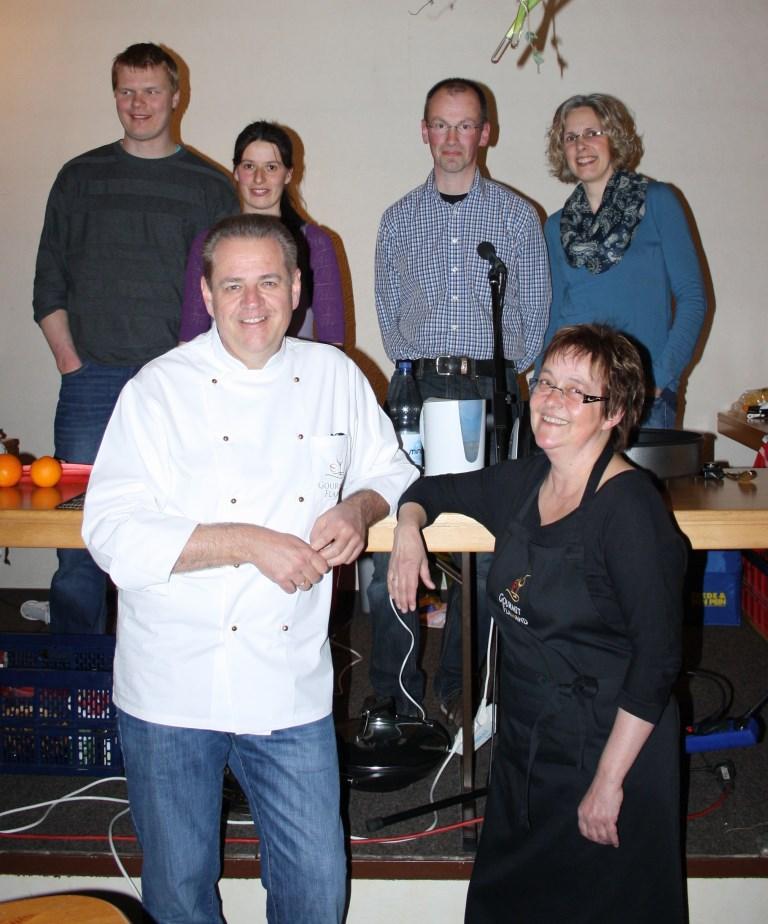 Wir als Jury beim Kochduell im Filsumer Gemeinschaftshaus des EC