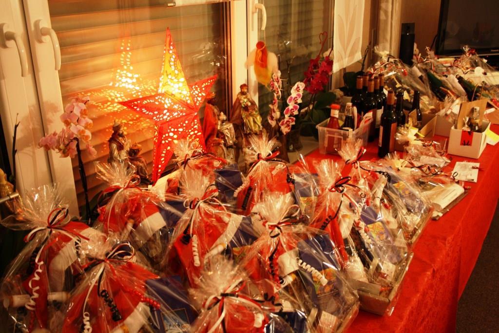 Wohnzimmer im Weihnachtsrausch