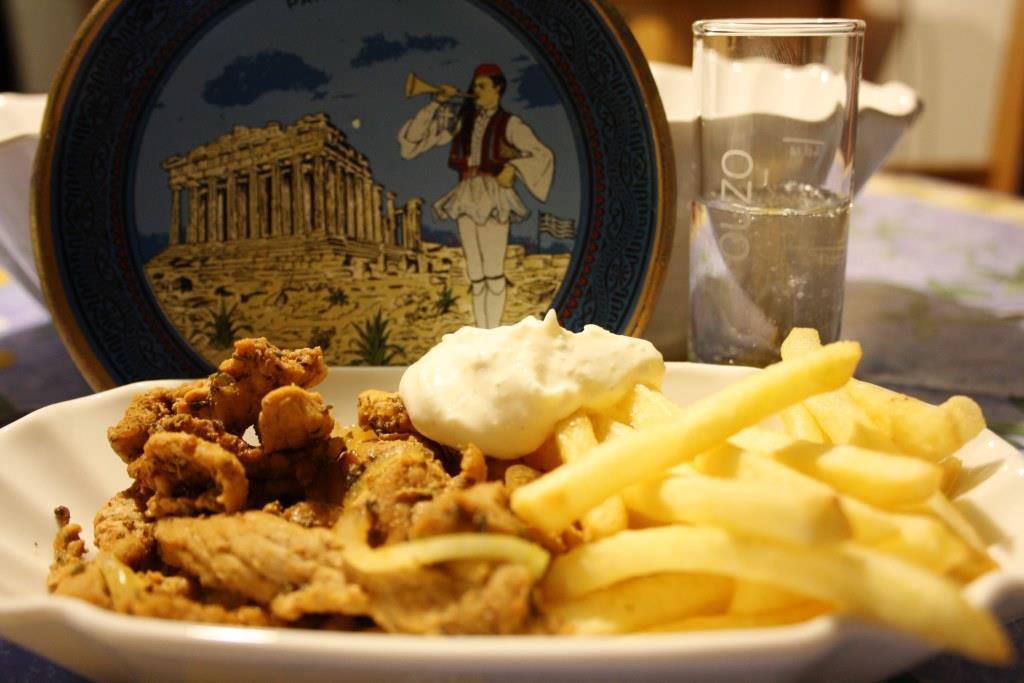 """halb-griechischer"" Abend bei Gourmet Flamand"