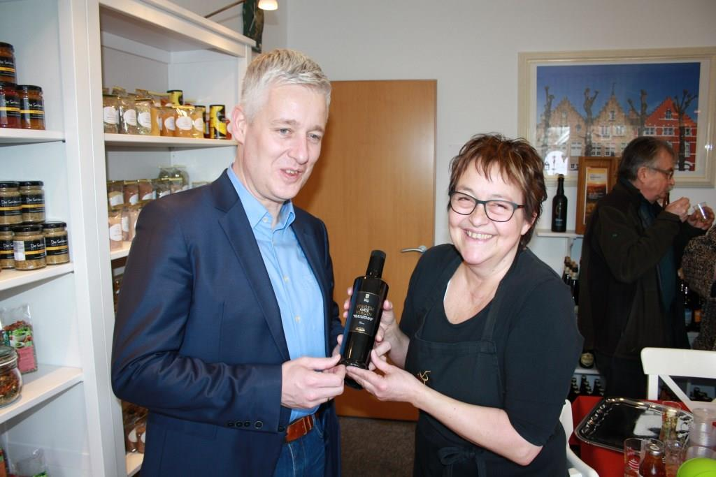 Hoher Besuch bei Gourmet Flamand Landrat Matthias Groote