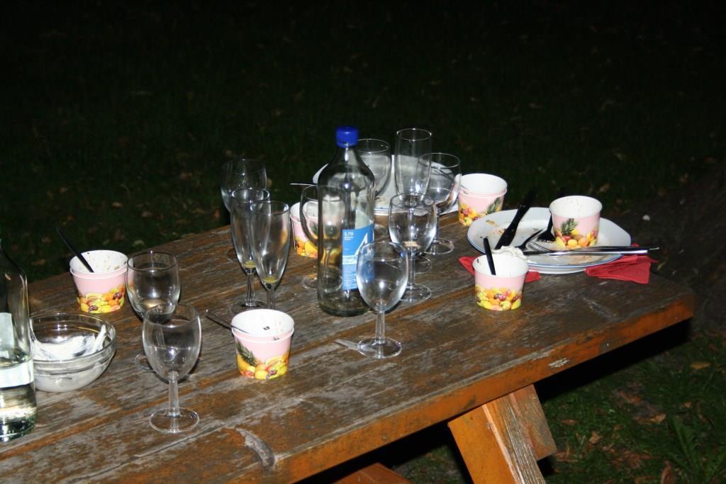 Gläser und Teller leer - schön war ´s!
