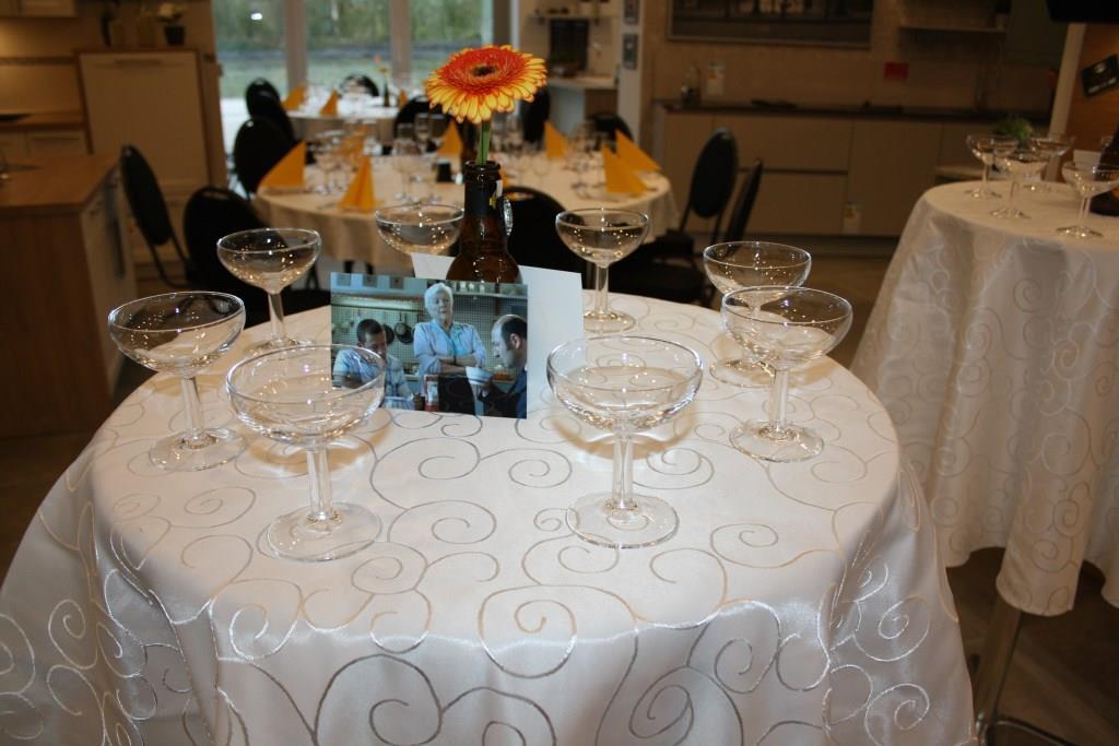 Vorbereitung für den Empfang der Gäste