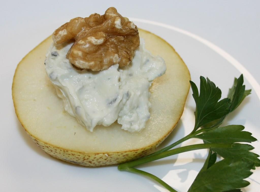 Birne mit Roquefort-Creme