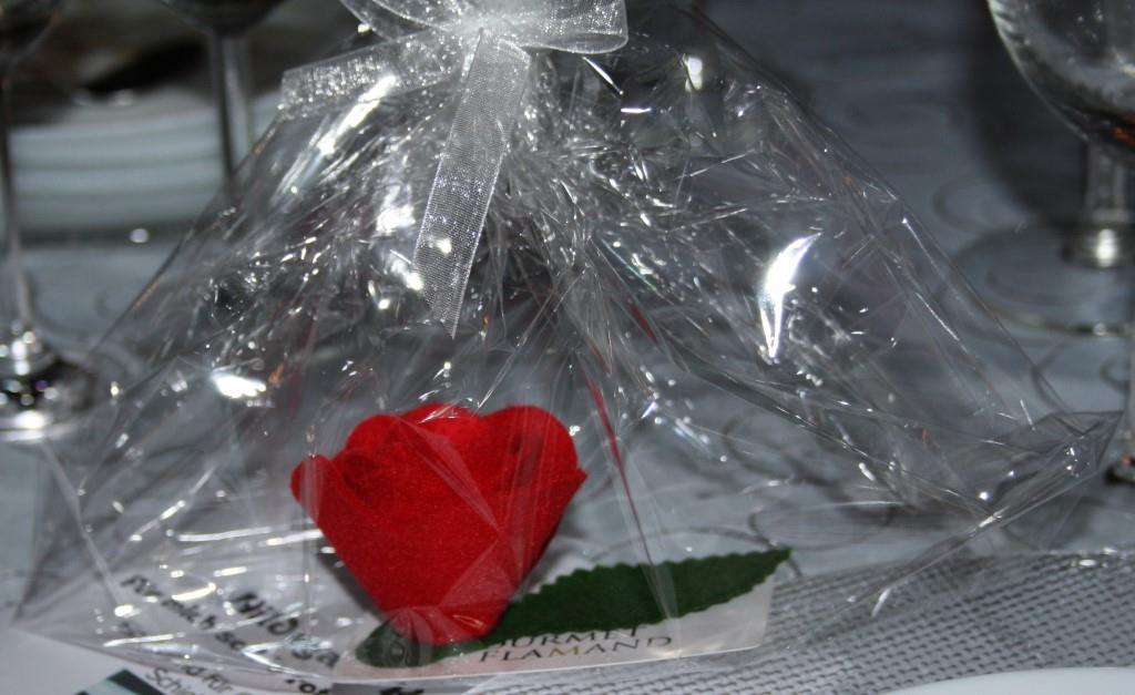 Die rote Rose als Andenken für unsere tollen Gäste