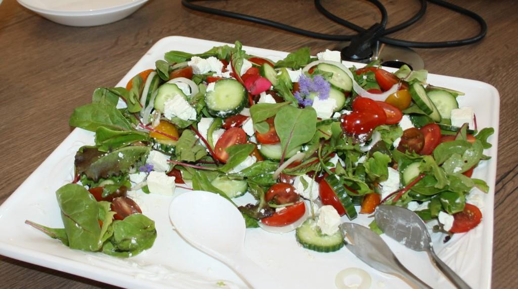 Als Vorspeise dabei: Salatvariation griechischer Art