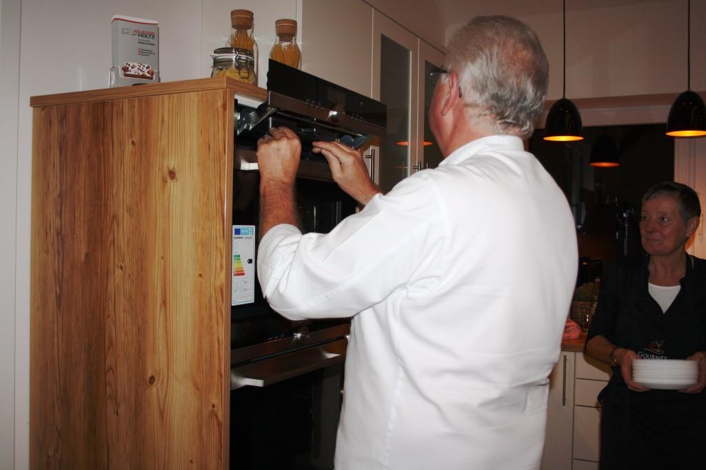 Noch mal schnell den Ofen überprüfen