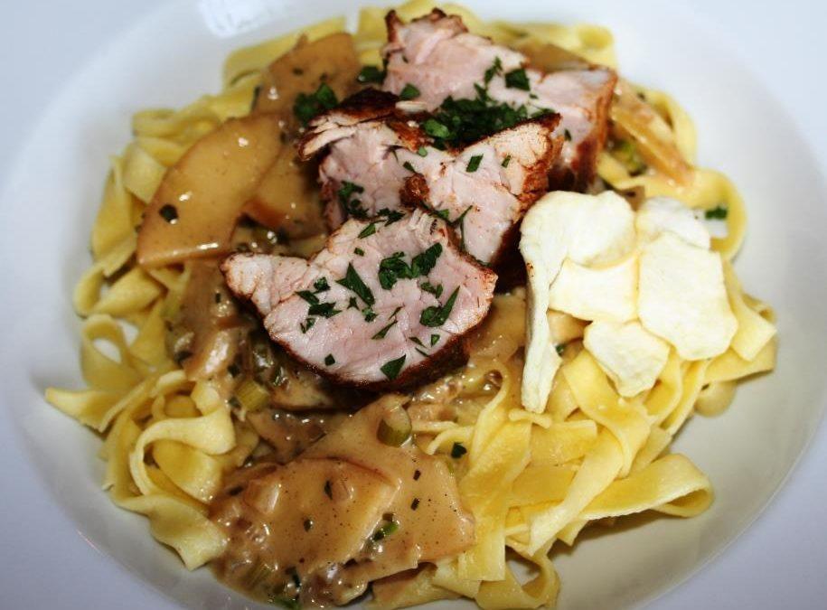 Das Rezept der Woche – Schweinefilet mit Calvados-Sauce